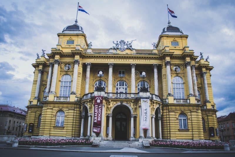 Kroatisch Nationaal Theater stock foto