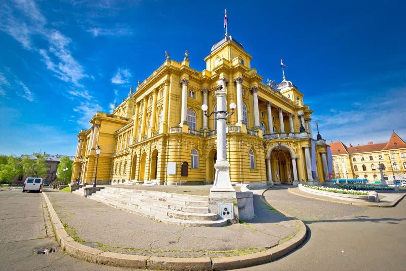 Kroatisch nationaal theater van Zagreb stock fotografie