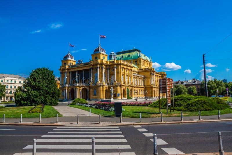 Kroatisch Nationaal Theater in Zagreb royalty-vrije stock afbeelding