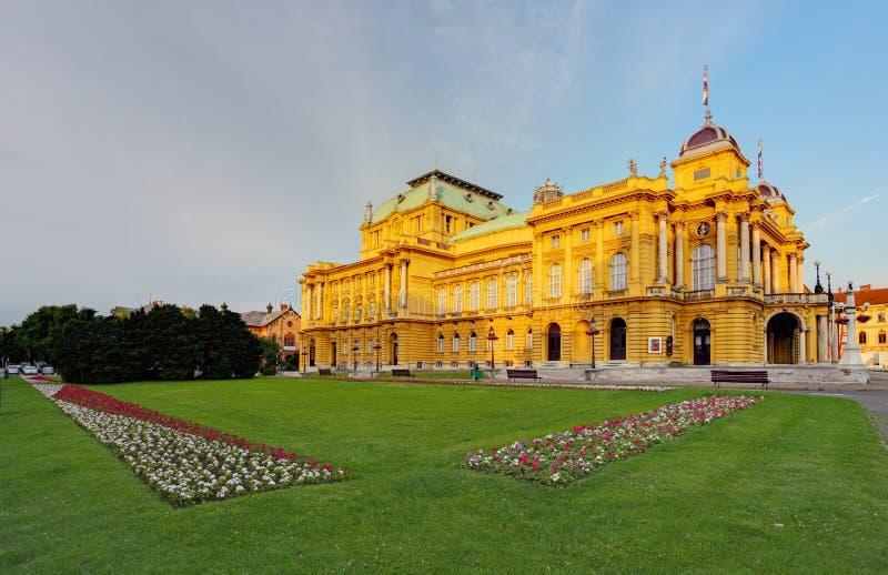 Kroatisch Nationaal Theater, Zagreb royalty-vrije stock afbeelding