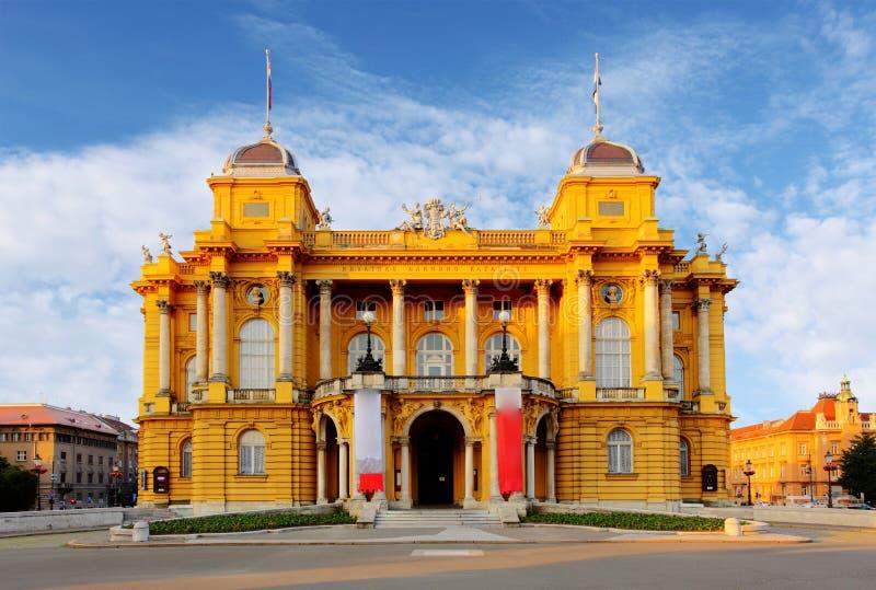 Kroatisch Nationaal Theater, Zagreb stock afbeelding