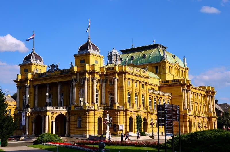 Kroatisch Nationaal Theater in Zagreb royalty-vrije stock fotografie
