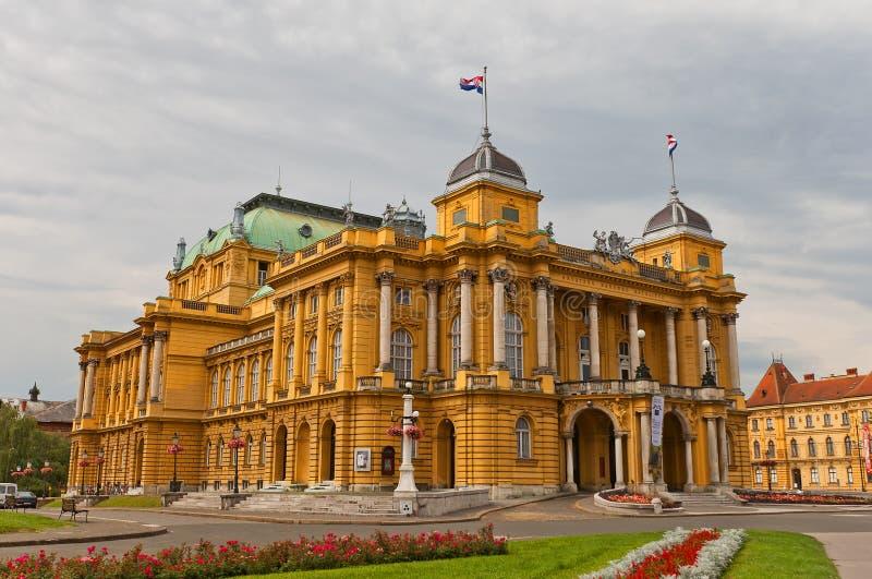 Kroatisch Nationaal Theater (1895) in Zagreb, Kroatië stock fotografie