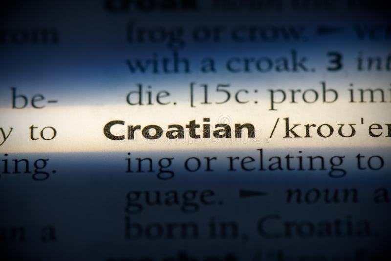 Kroatisch stock afbeeldingen