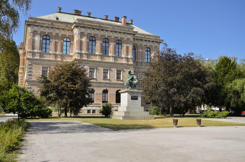Kroatische Academie van Wetenschappen en Kunsten, Zagreb 2 stock afbeelding