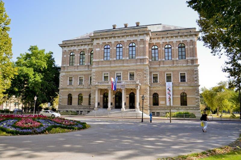 Kroatische Academie van Wetenschappen en Kunsten, Zagreb stock foto's