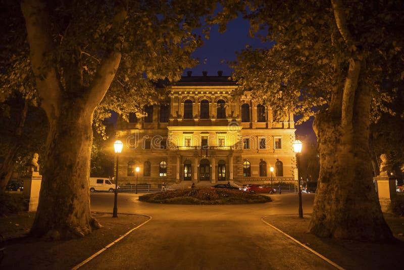 Kroatische Academie van Wetenschappen en Kunsten, Zagreb, Kroatië stock afbeelding