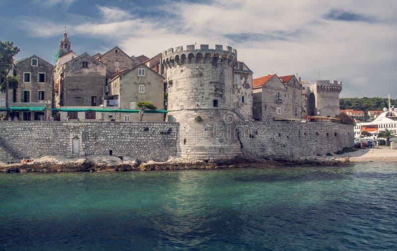 Kroatische alte Stadt stockfotografie