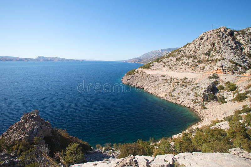 Kroatische Küstenlinie stockfotografie