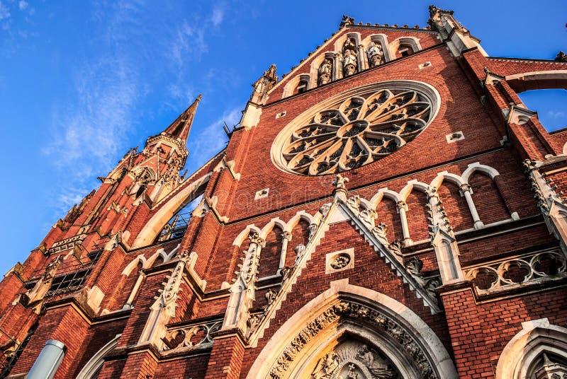 Kroatische kathedraal, Osijek royalty-vrije stock foto