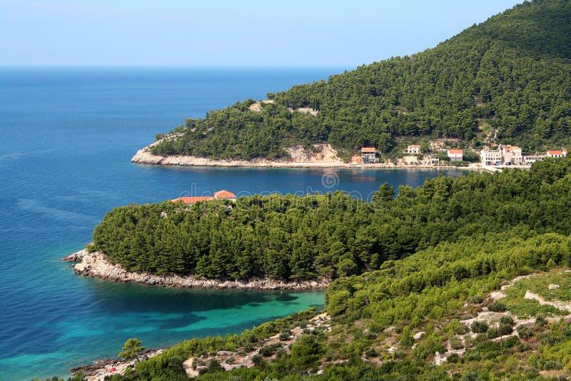 Kroatische kust? stock afbeelding