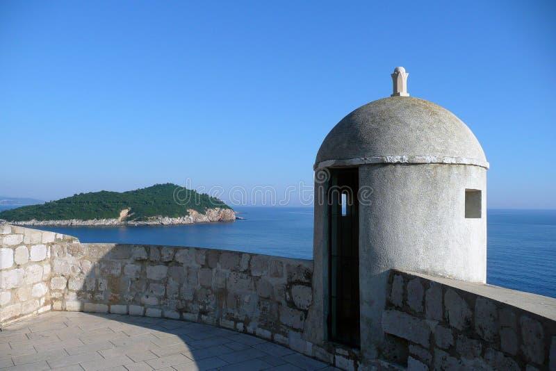 Kroatische kust royalty-vrije stock foto's