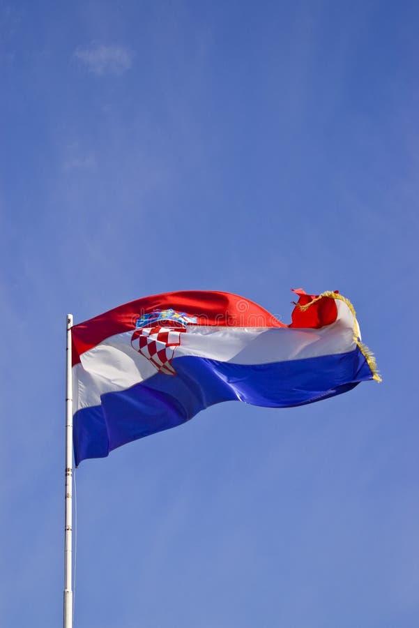 Kroatische Vlag 2 stock foto's