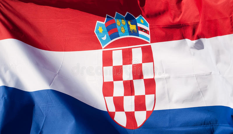 Kroatische vlag stock afbeeldingen
