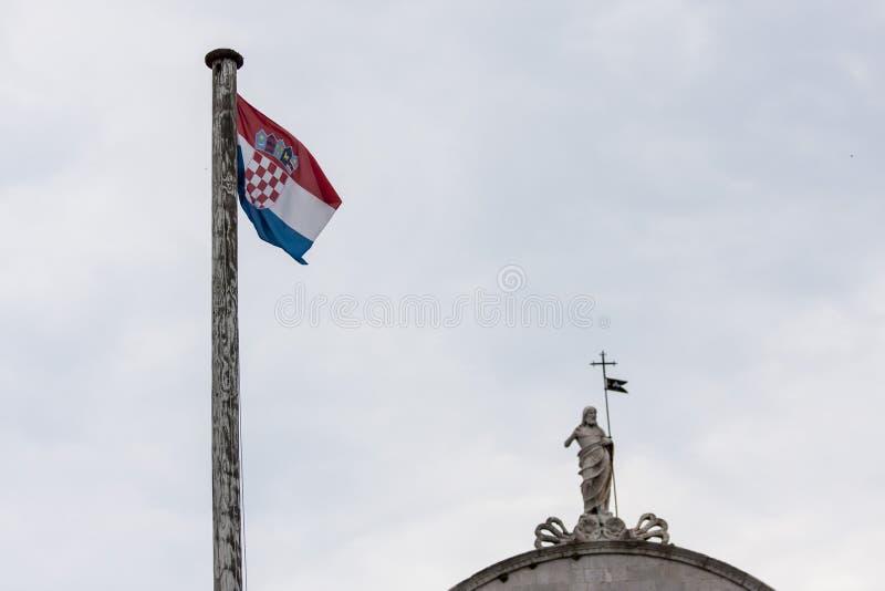 Kroatische vlag royalty-vrije stock foto