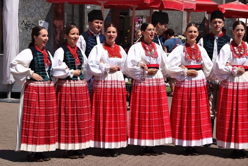 Kroatische Volksdans stock foto