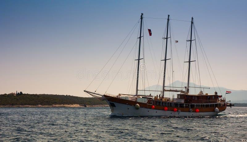 Kroatische Yacht stockfoto