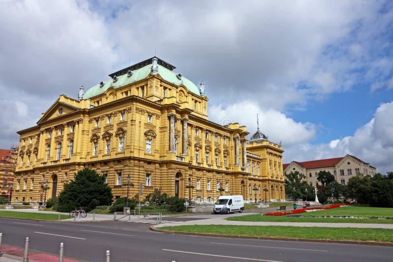 Kroatisches nationales Theater in Zagreb lizenzfreie stockfotos