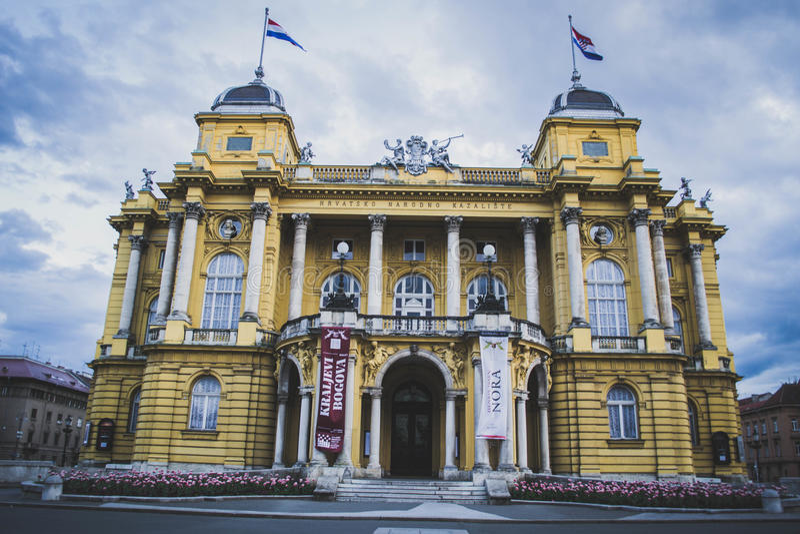 Kroatisches Nationaltheater stockfoto