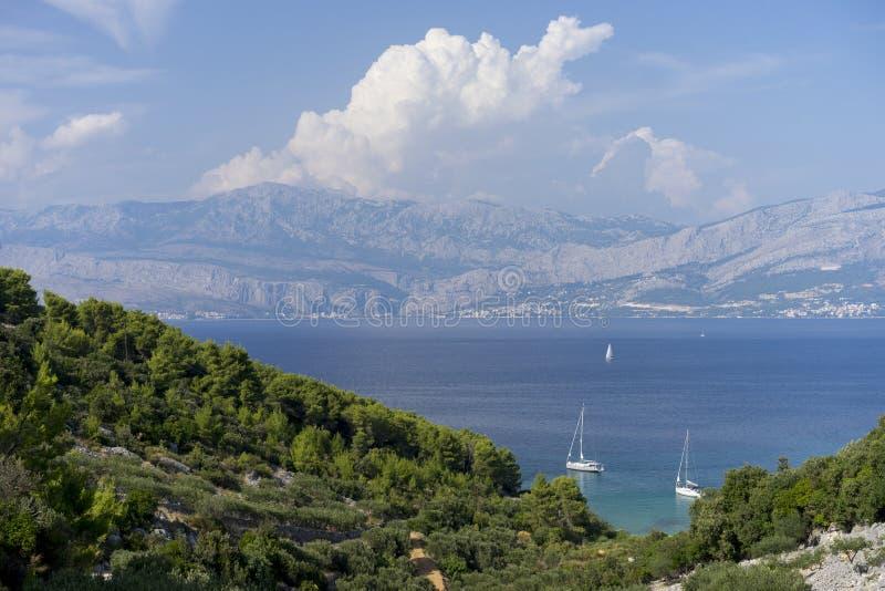 Kroatisk kustlinje arkivbilder