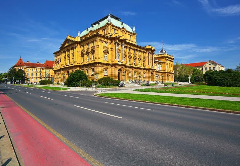 Kroatisk medborgareteater, Zagreb royaltyfri fotografi