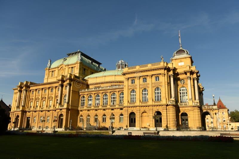 Kroatisk nationell teater i Zagreb, Kroatien Zagreb operahus arkivbild