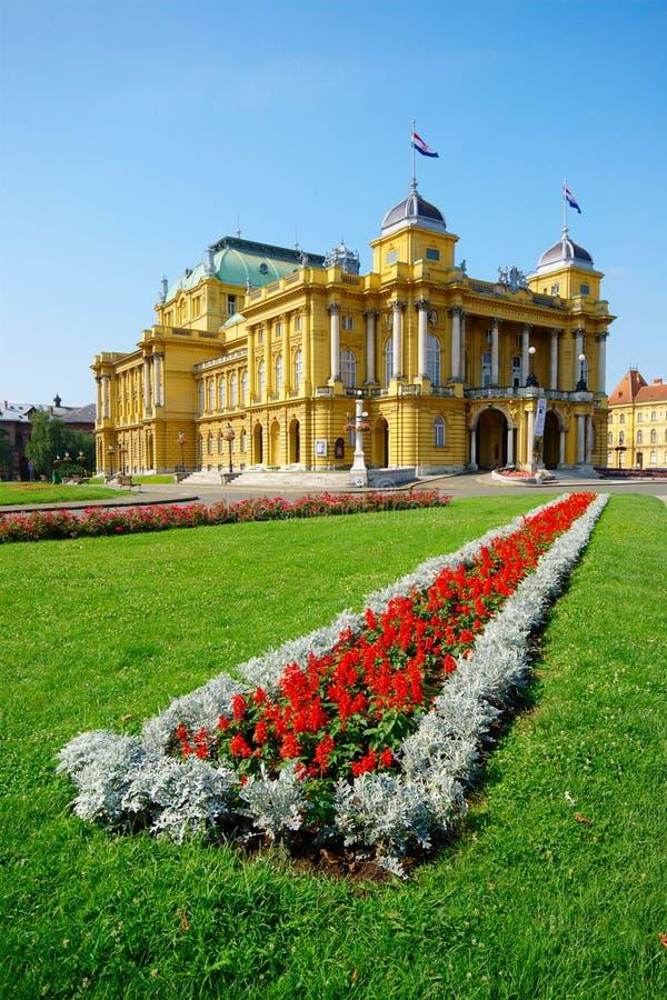 Kroatisk nationell teater, Zagreb, Kroatien arkivfoton