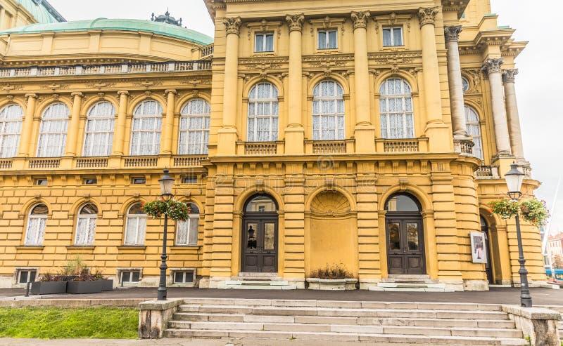 Kroatisk nationell teater, Zagreb, Kroatien royaltyfria bilder