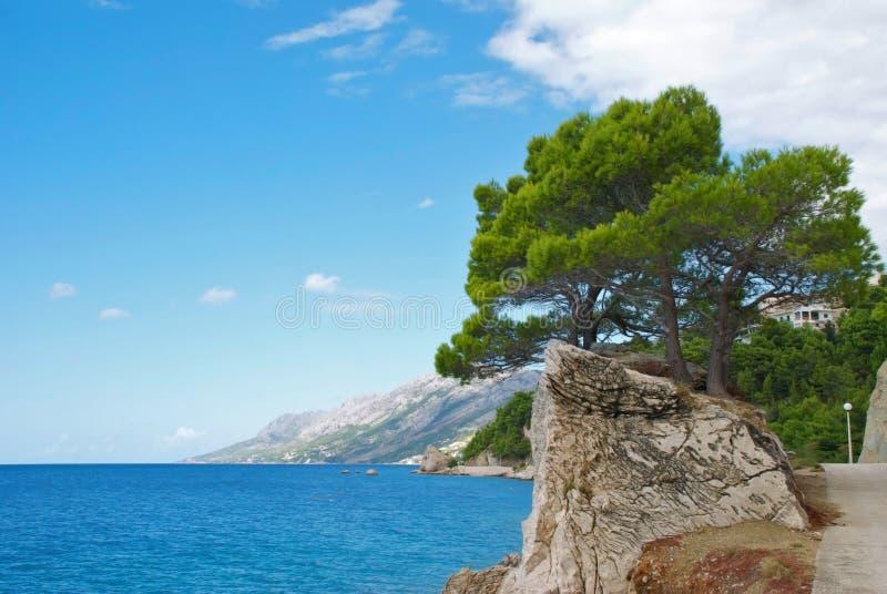 kroatisk semesterort för brela arkivbild