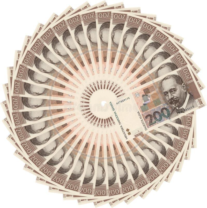 Download Kroatisk Valutakuna För 200 Bills Fotografering för Bildbyråer - Bild av objekt, pengar: 502357