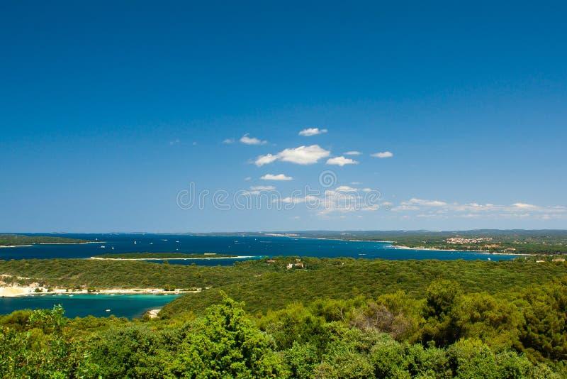 kroatiska riviera arkivfoto