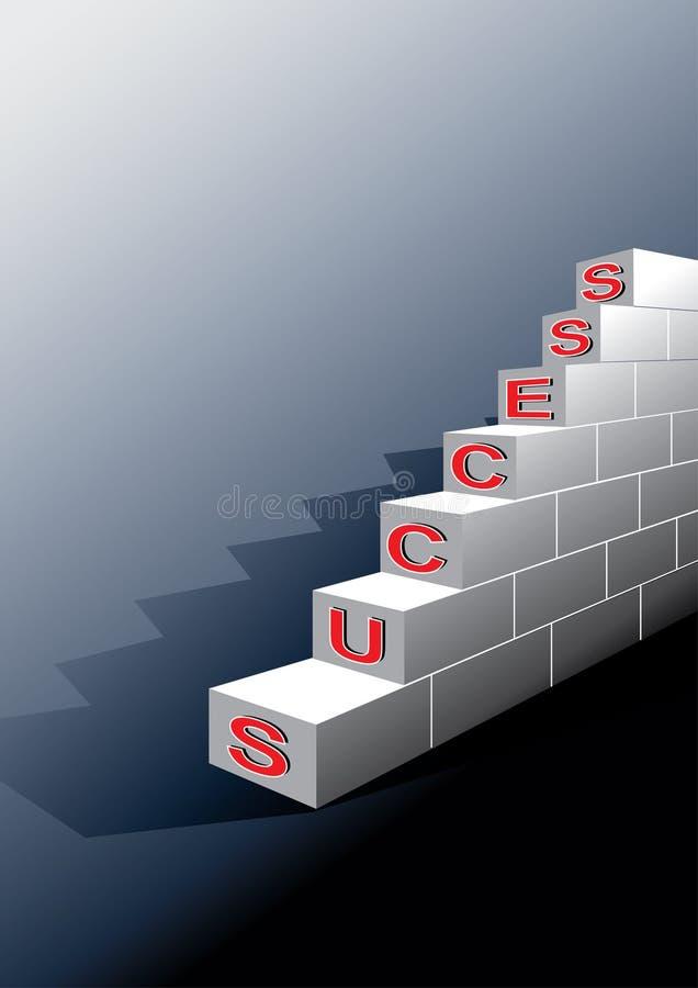 kroczy sukces ilustracji