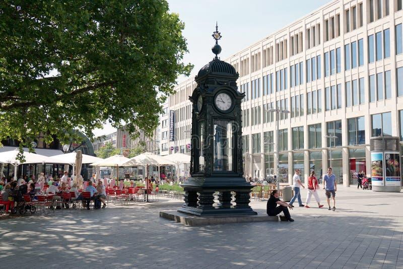 Kroepcke Uhr in Hannover Deutschland stockbild