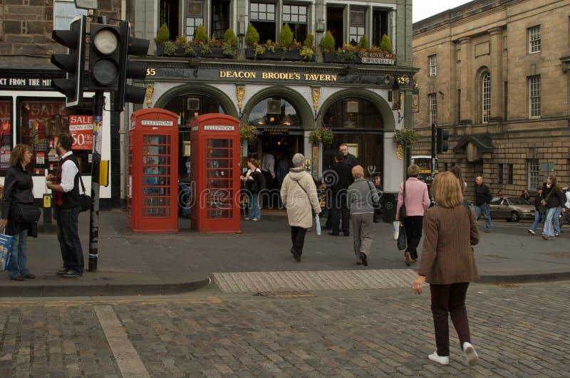 Krog för diakonBrodie ` s, Edinburg, Skottland arkivfoton