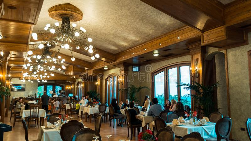 KROI-Restaurant Kruje lizenzfreies stockbild