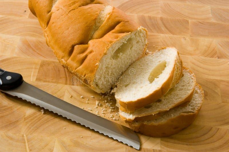 krojenie chlebowy obrazy stock
