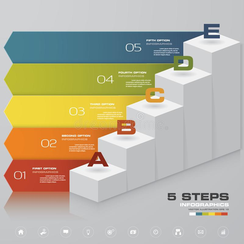 5 kroków schody Infographic element dla prezentaci 10 eps ilustracja wektor