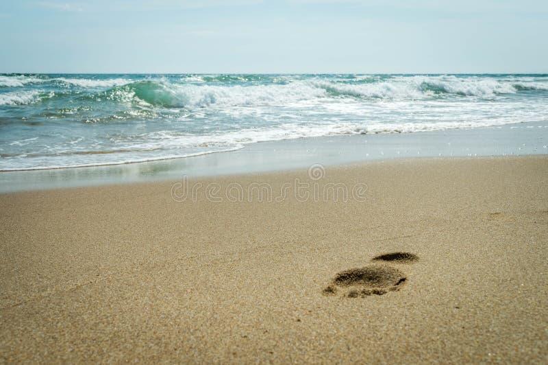 Krok na plaży Czarny morze zdjęcia stock