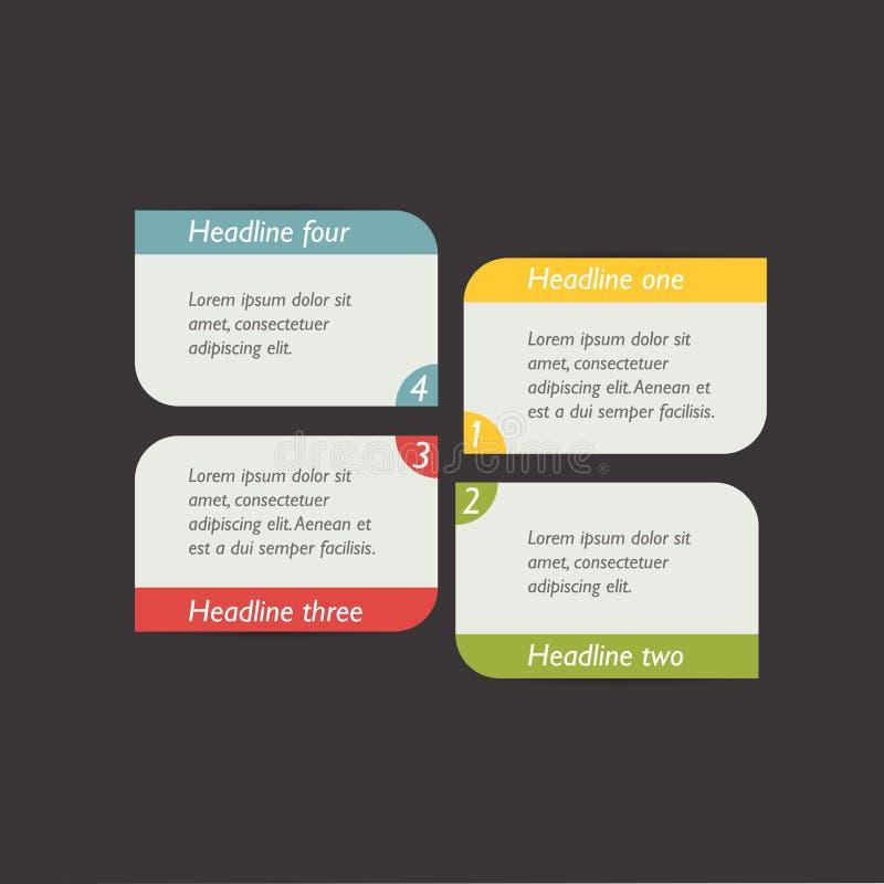 Krok po kroku diagram royalty ilustracja
