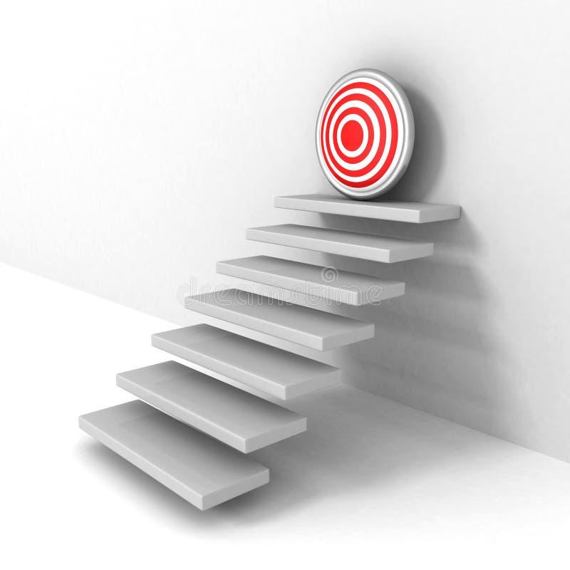Kroki do bramkowego celu biznesowego sukcesu pojęcia ilustracja wektor