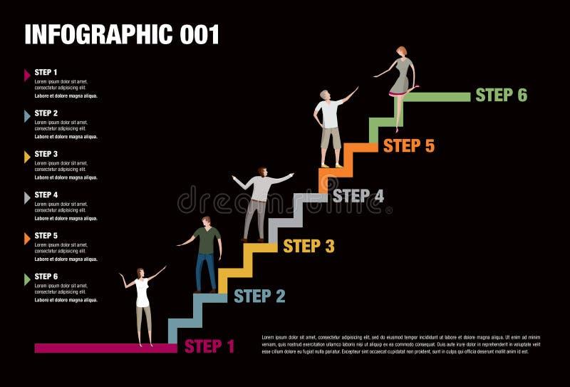 Kroki Infographic ilustracja wektor
