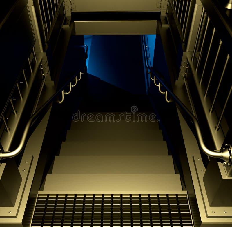 Kroki pod - ziemią ilustracji