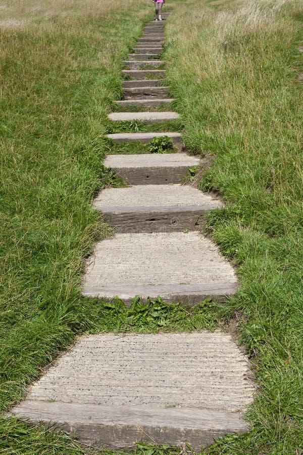Kroki Prowadzi do Glastonbury Tor zdjęcie royalty free