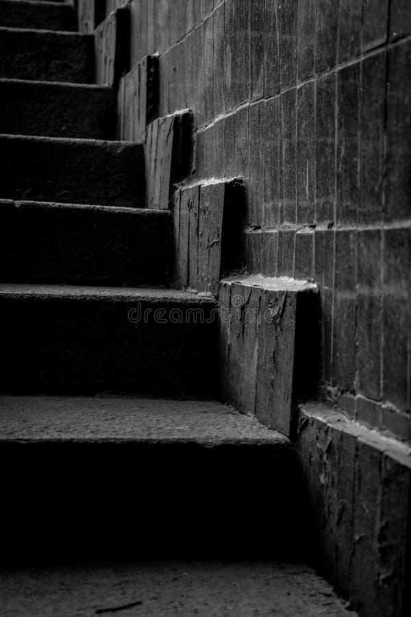kroki w w czarny i biały stylu obraz stock