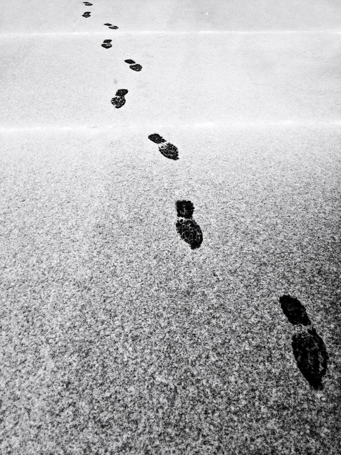 Kroki w ?niegu zdjęcie stock