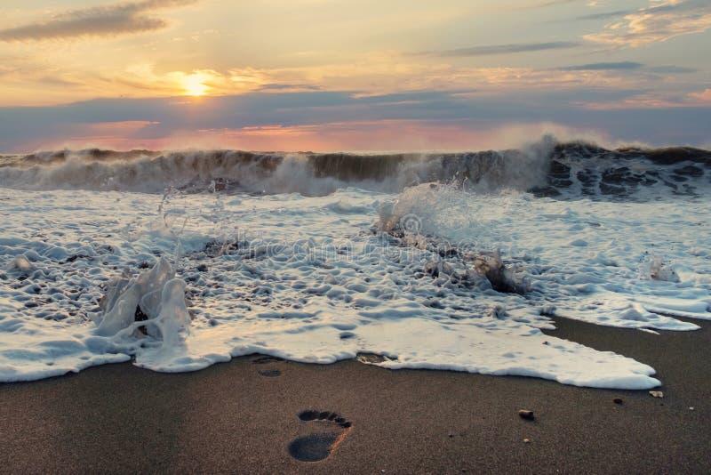 Kroki w piasku obraz stock