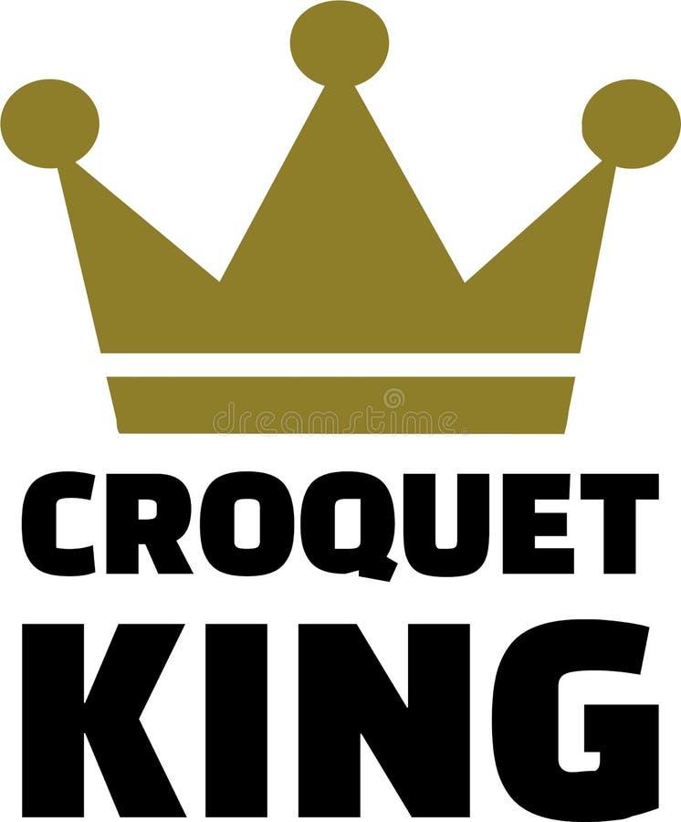 Krokietowa królewiątko korona ilustracji