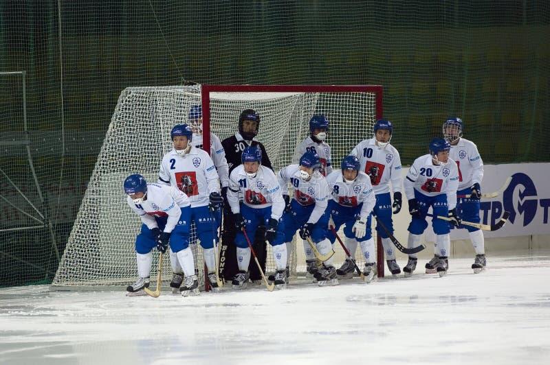 krokigt lag för dinamohockeymoscow ryss royaltyfria foton