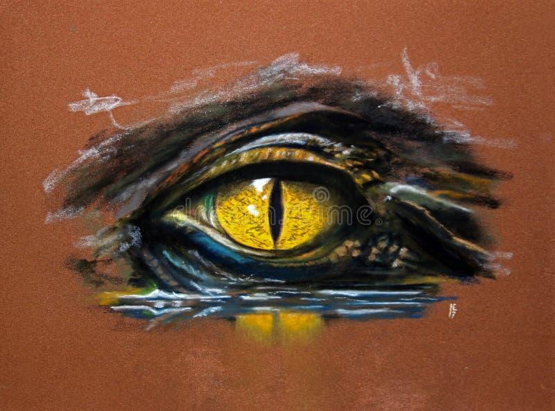 Krokodil-Auge stockfoto