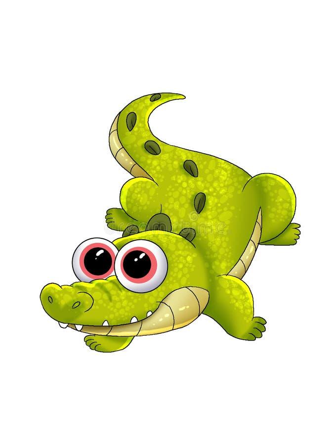 Krokodilkarikatur lizenzfreies stockfoto